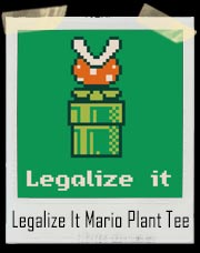 Mario Bros Legalize It NES Plant T-Shirt